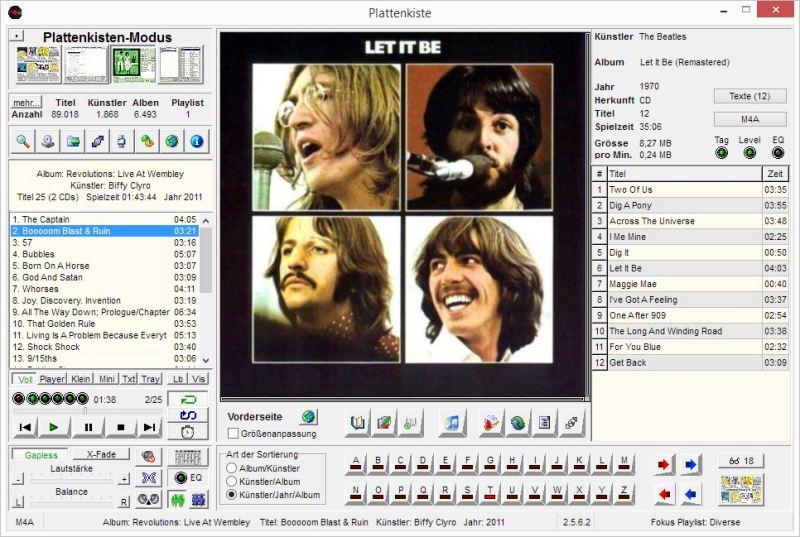 Screenshot vom Programm: Plattenkiste